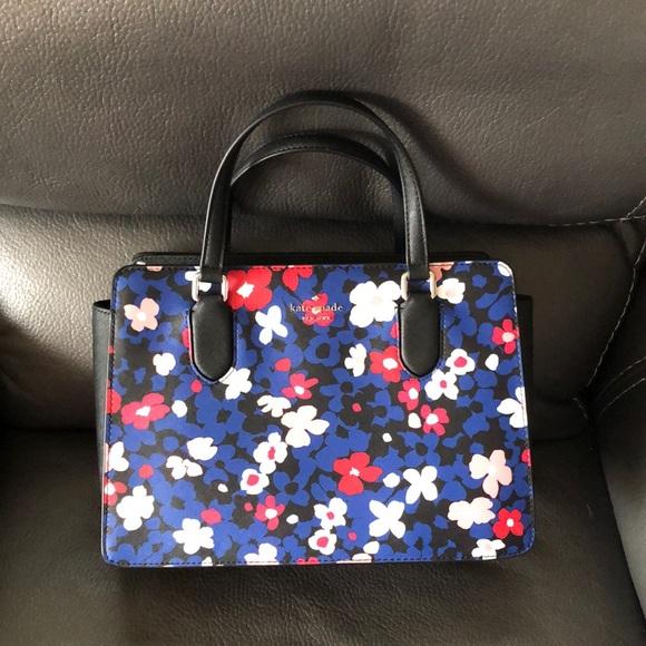 Kate spade floral multi satchel handbag